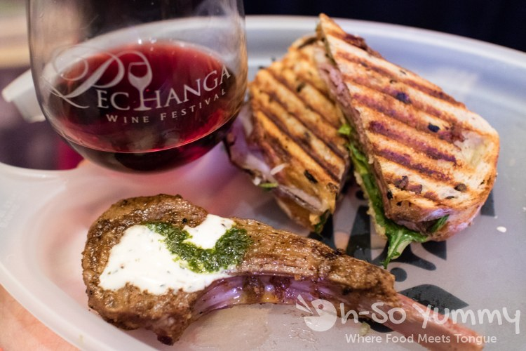 food and wine at the 10th annual wine festival at pechanga
