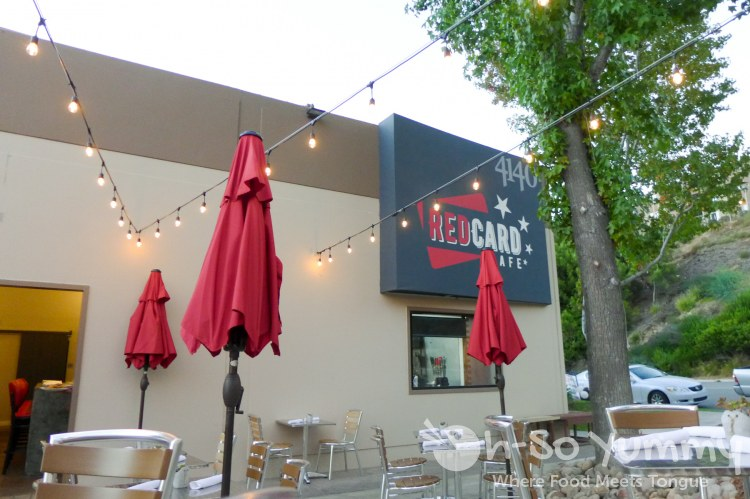patio of Red Card Cafe in San Diego