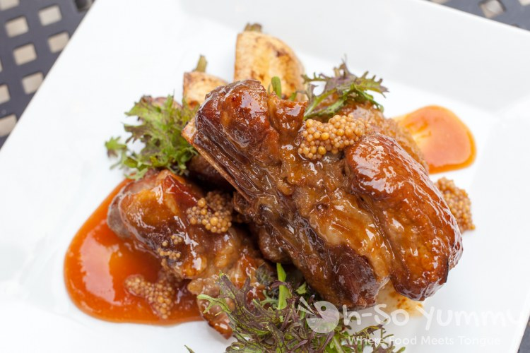braised pork short rib at Red Card Cafe in San Diego California