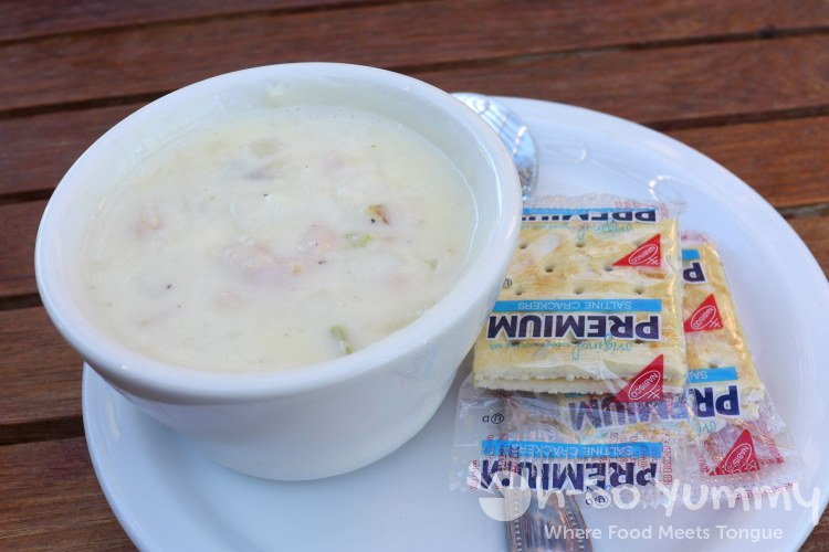 clam chowder at RJ's Cafe in Dana Point