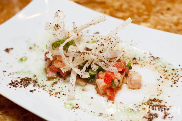 Wild Local Halibut and Watermelon Ceviche at Saiko Sushi in North Park