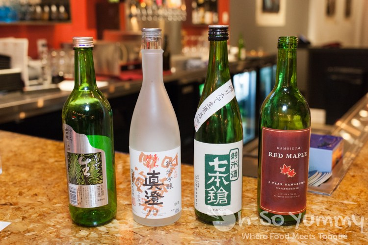 Nama Sake Flight at Saiko Sushi in North Park