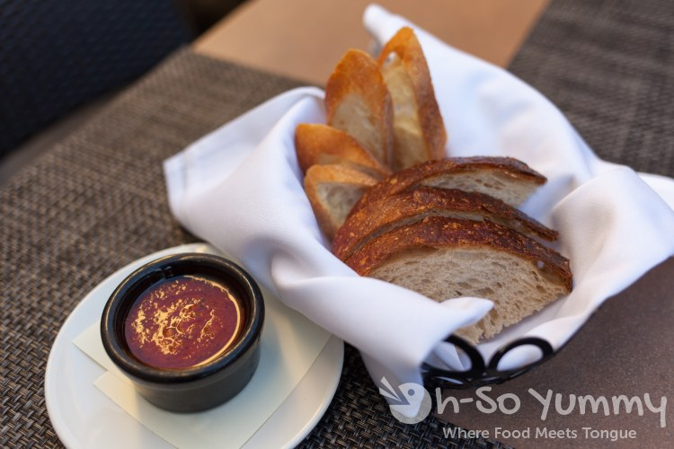 roma salsa and bread at Sbicca restaurant in Del Mar