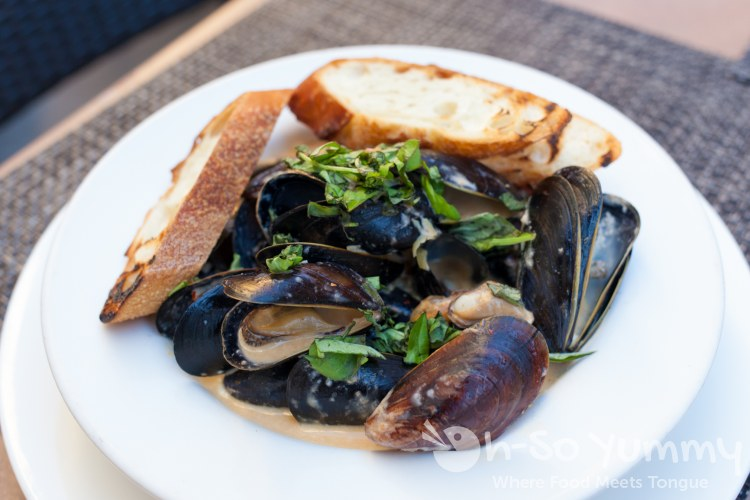 P.E.I Mussels at Sbicca restaurant in Del Mar