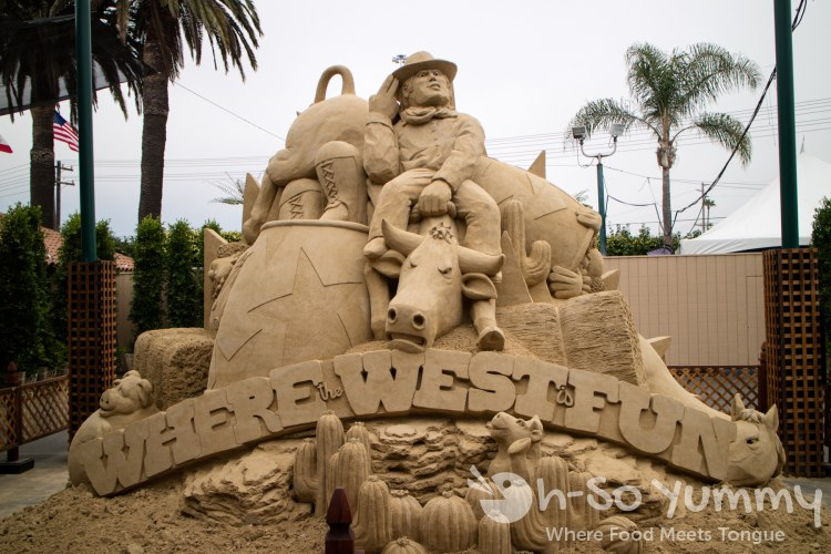 sand sculpture at San Diego Fair 2017 Where the West is Fun