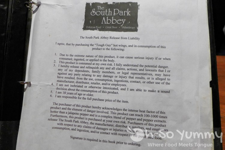 Tough Guy waiver at South Park Abbey