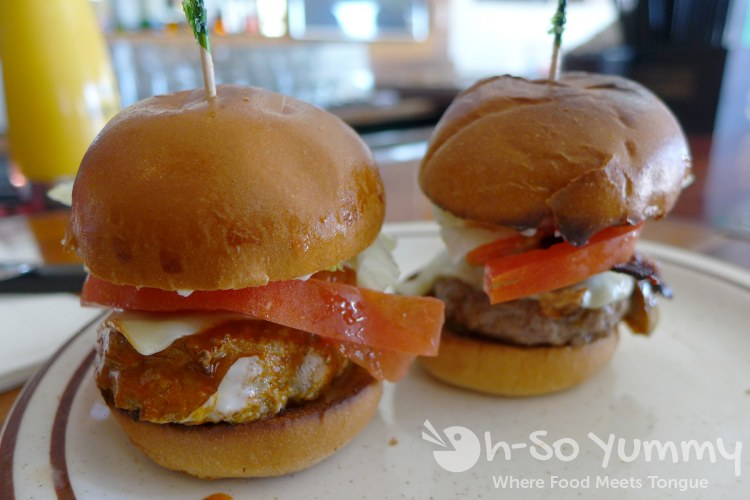 spicy and BSM sliders at Rosie O Grady's during San Diego Burger Week