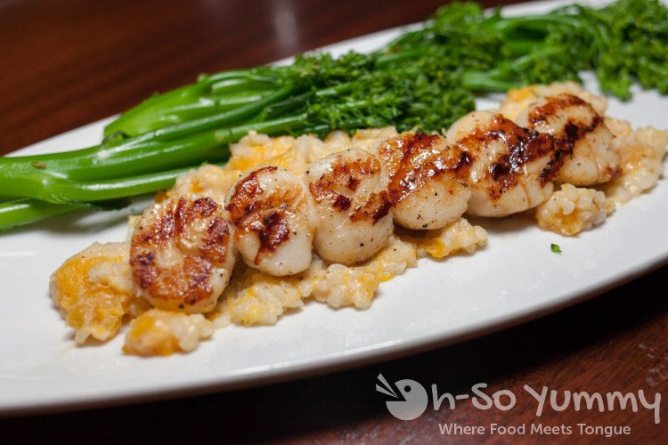 Caramelized Grilled Sea Scallops at Seasons 52