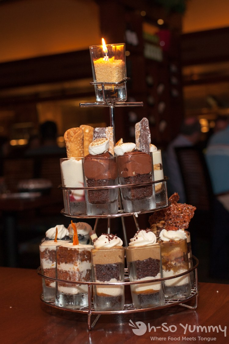 dessert tower at Seasons 52
