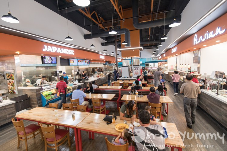 Food Court inside Atlas Market in Poway