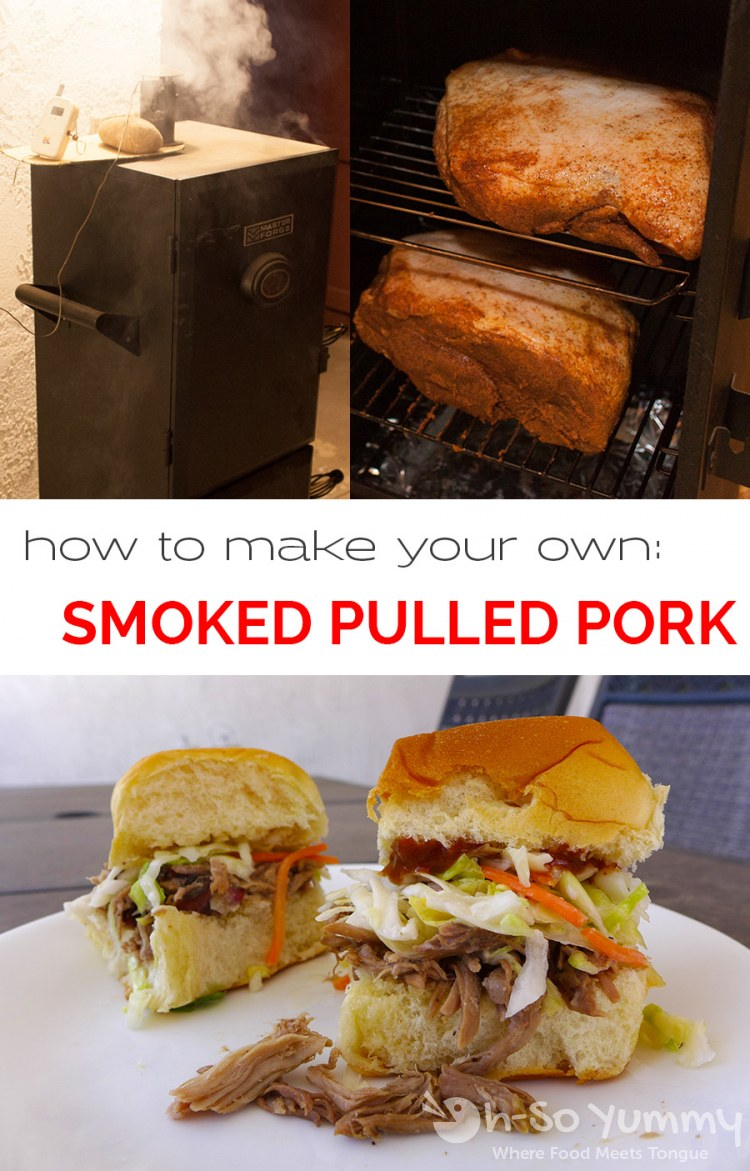 How to make Smoked Pulled Pork: tried and true method explained by Dennis at Oh-SoYummy