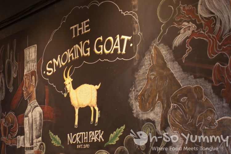 Goat Wall Art at The Smoking Goat in San Diego