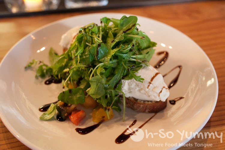 Organic Heirloom Tomato and Burrata Salad at The Smoking Goat in San Diego