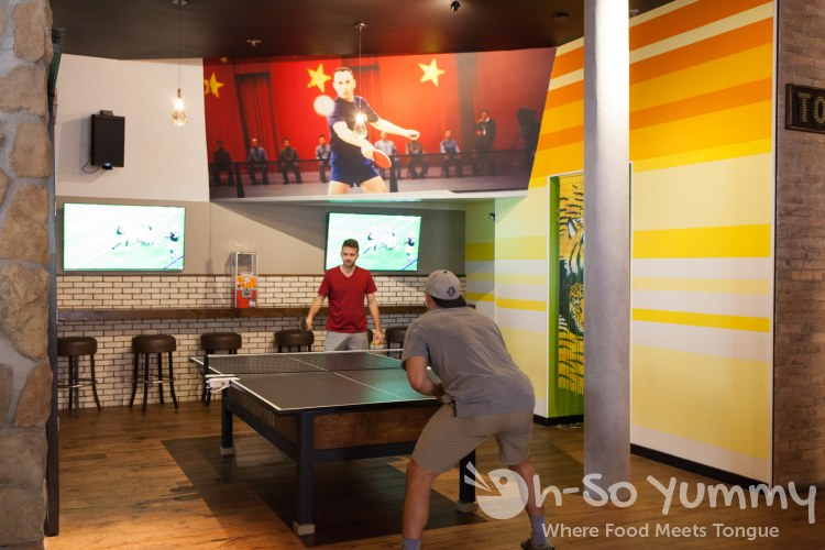 ping pong at The Smoking Gun in downtown San Diego