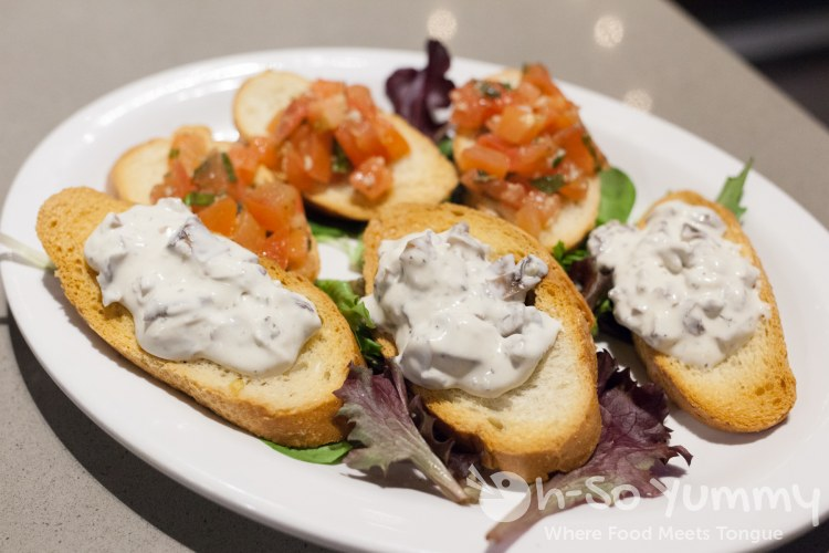 Bruschetta Sampler at SoleLuna Cafe in San Diego