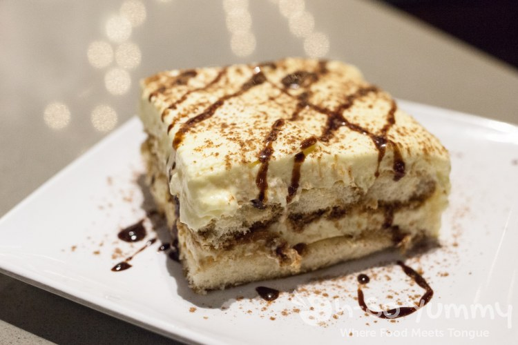 Homemade Tiramisu at SoleLuna Cafe in San Diego