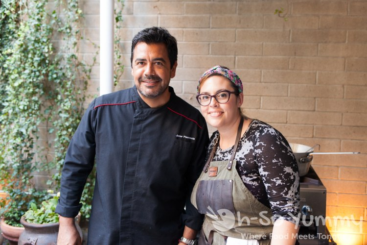Chef Javier Plascencia and Claudette Wilkins Zepeda