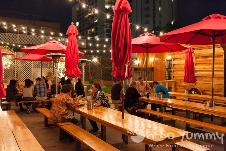 outdoor seating at Spitz Mediterranean Street Food