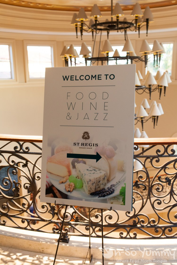 Food Wine and Jazz sign at the St Regis Monarch Beach