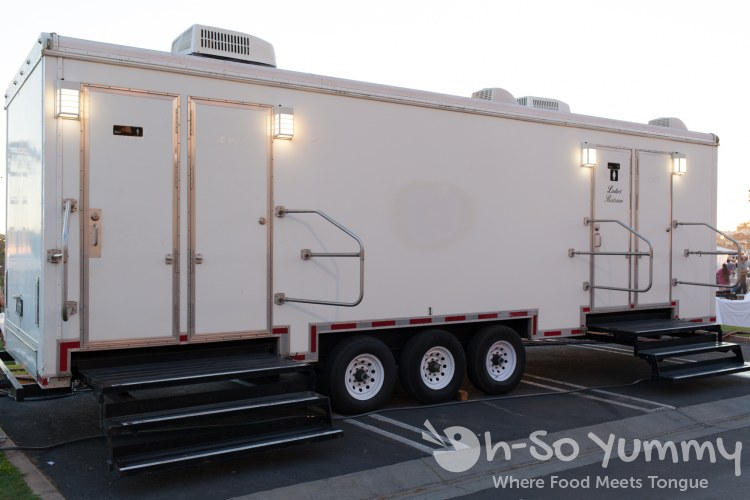 upscale mobile bathrooms at the St Regis Monarch Beach