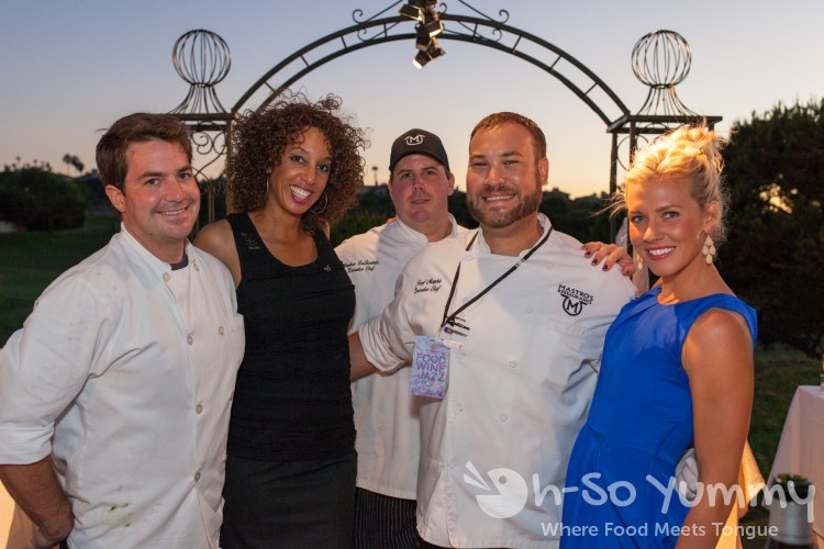 Chefs Josef Morphis and Steve Lafountain at food jazz and wine event