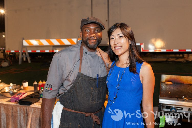 Chef Marc Anthony Bynum at food jazz and wine event at St Regis