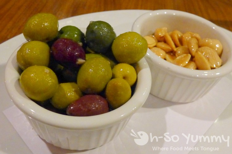 Olives and Marcona Almonds at Starlite in San Diego