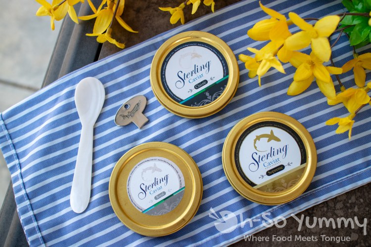 Sterling Caviar Classic, Royal and Supreme sampler pack