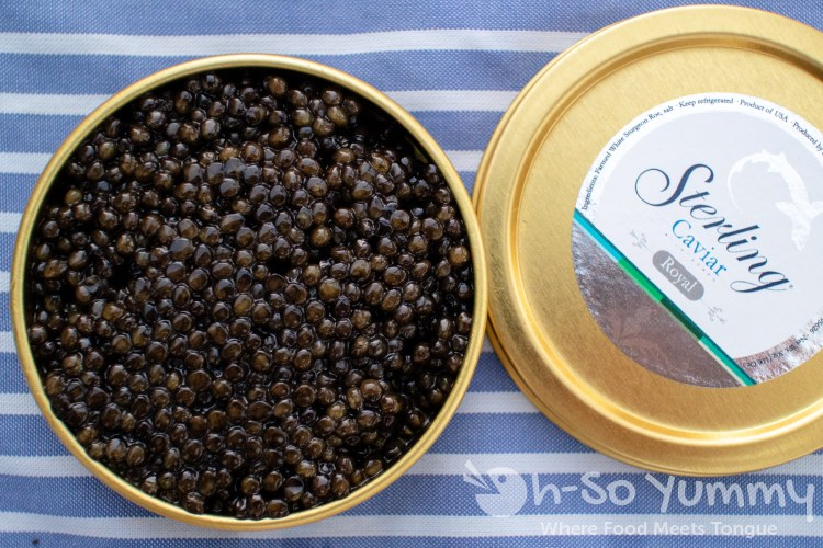 Sterling Caviar Royal tin for tasting