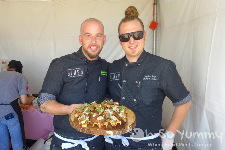 chef daniel barron and stephen gage at Harborfest Tacos and Spirits