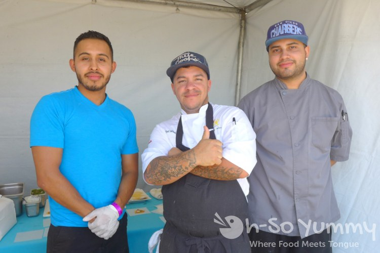chef mikel anthony and crew at Harborfest Tacos and Spirits
