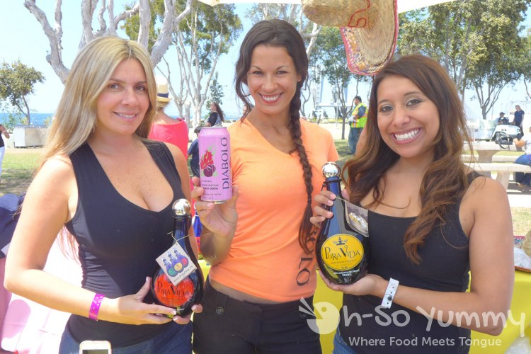 pure vida and diabolo reps at Harborfest Tacos and Spirits