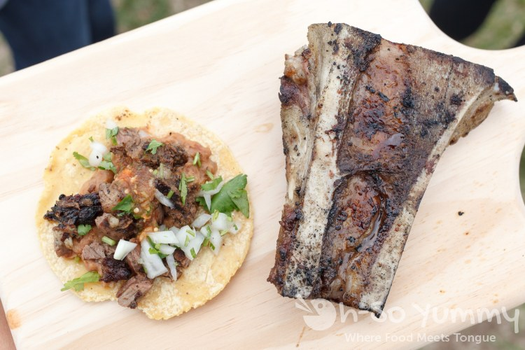 taco and bone marrow from El Paiso