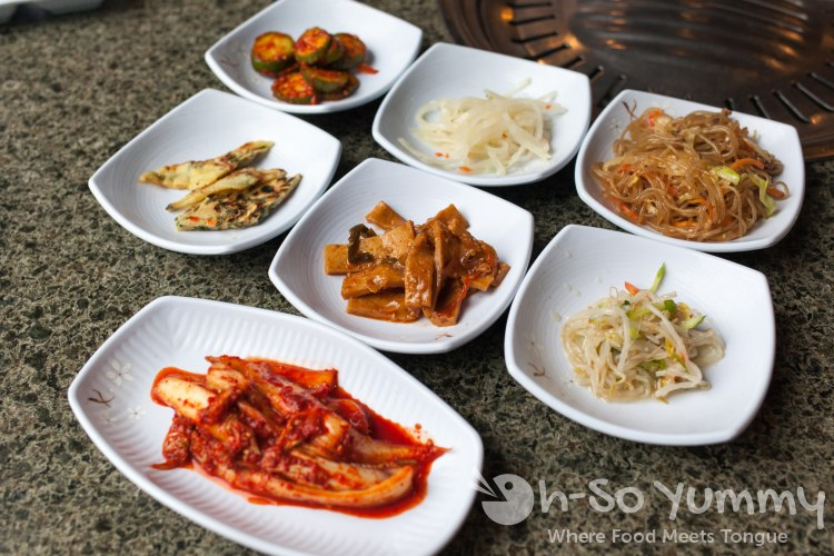 Banchan at Taegukgi Korean BBQ