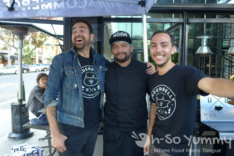 Underbelly employees and chef Rueben at Taste of Little Italy 2015