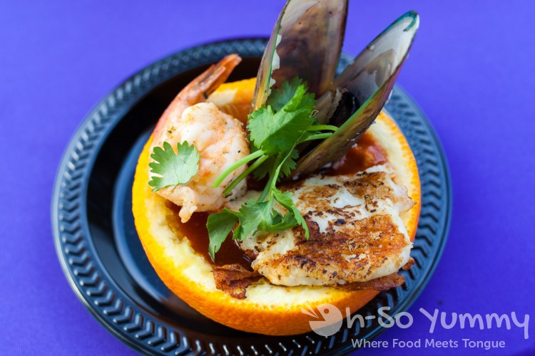 mariscada de naranja from Casa de Reyes at Taste of Old Town 2015