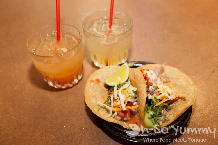 margaritas and tacos from Cafe Coyote at Taste of Old Town 2015