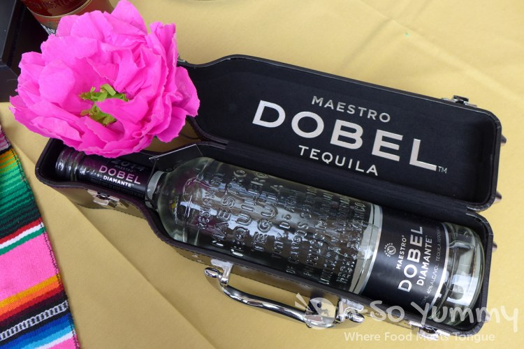Maestro Dobel Tequila silver in a special case at Taste of Old Town 2015