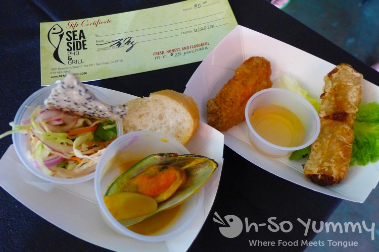 Seaside Pho and Grill sample at Taste of Point Loma