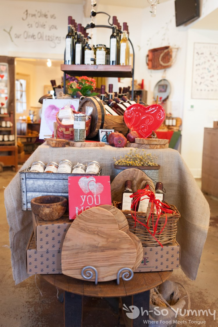cute valentines display at Temecula Olive Oil Company