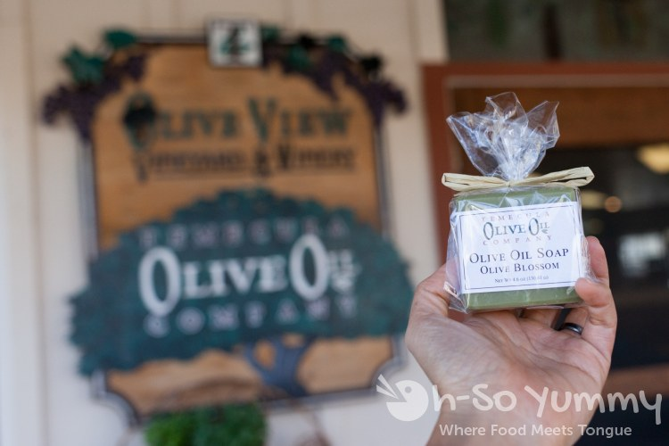 olive oil soaps from Temecula Olive Oil Company