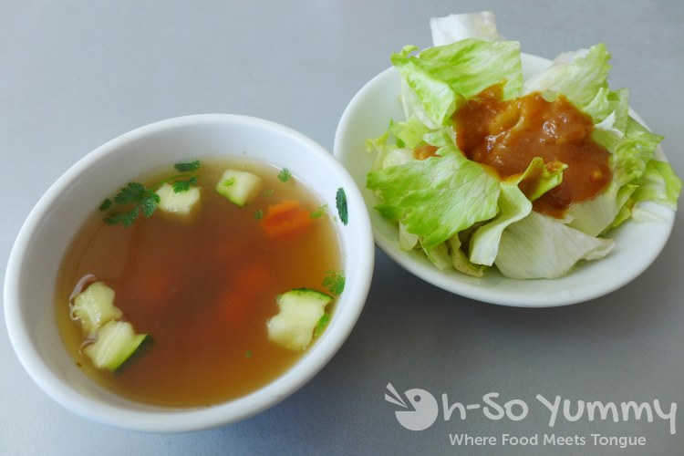 Thai Time III - lunch special appetizer soup and salad