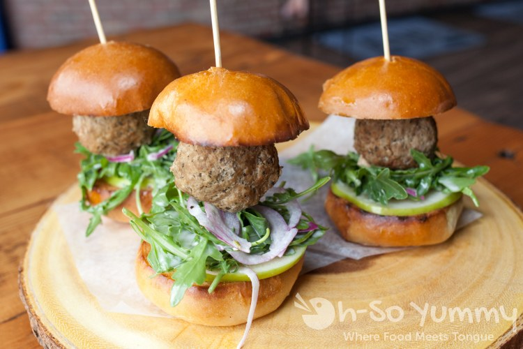 meatball sliders at The Rail restaurant and nightclub in Hillcrest San Diego