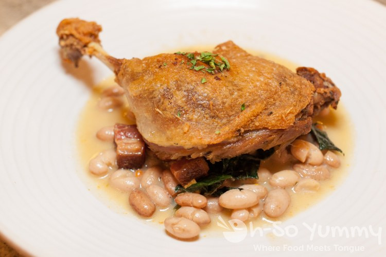 duck confit at Tidal seasonal craft and catch in San Diego