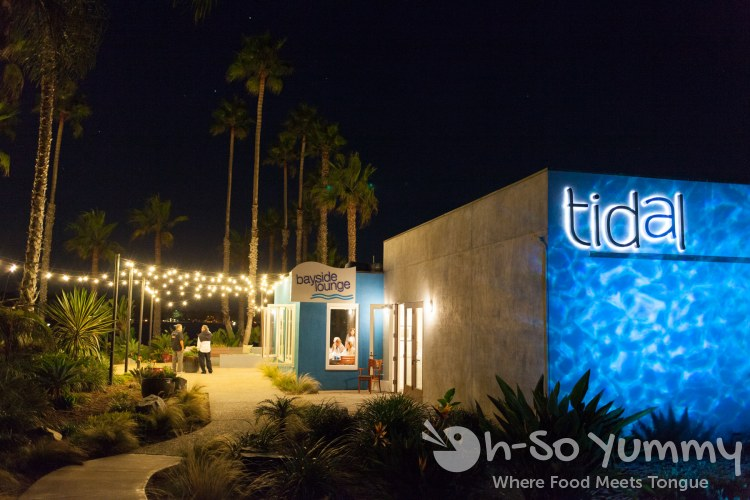 night view at Tidal seasonal craft and catch in San Diego