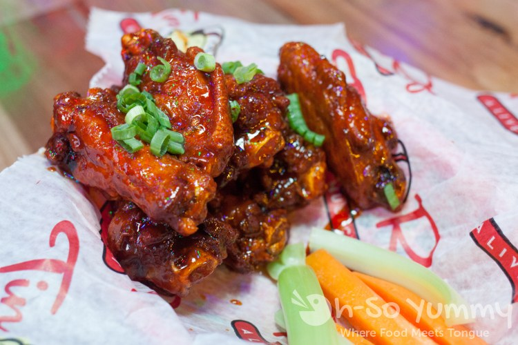 Pound O Wings (Tenniyaki) at Tin Roof in downtown San Diego