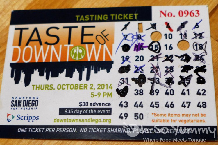 Taste of Downtown 2014 - Ticket