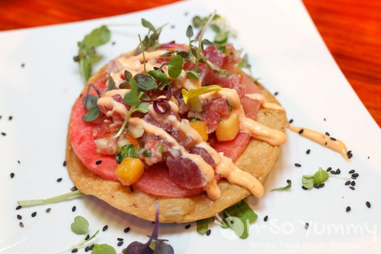 Sandia ahi tostada at Tostadas North Park