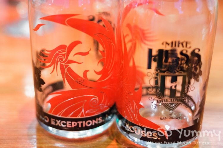 Mike Hess Brewing logo glass