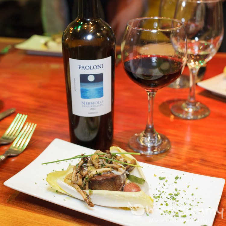 Filet Mignon and Nebbiolo Win pairing at Tostadas North Park